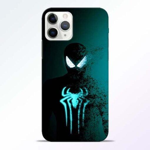 Black Spiderman iPhone 11 Pro Max Mobile Cover