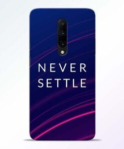 Blue Never Settle OnePlus 7 Pro Mobile Cover