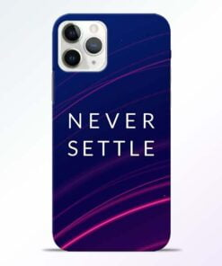 Blue Never Settle iPhone 11 Pro Max Mobile Cover