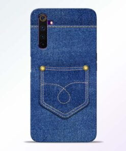 Blue Pocket Realme 6 Mobile Cover