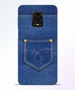 Blue Pocket Redmi Note 9 Pro Mobile Cover