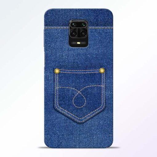 Blue Pocket Redmi Note 9 Pro Mobile Cover