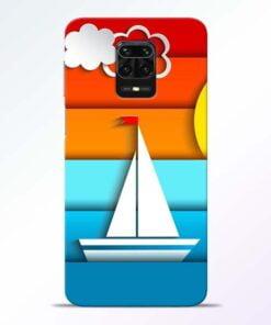 Boat Art Redmi Note 9 Pro Mobile Cover
