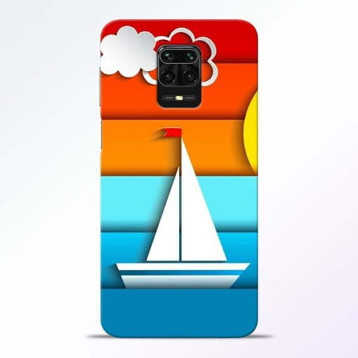 Boat Art Redmi Note 9 Pro Mobile Cover
