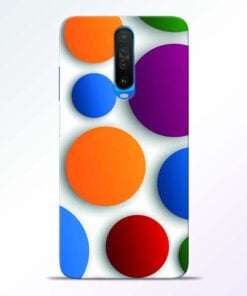 Bubble Pattern Poco X2 Mobile Cover