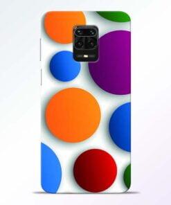 Bubble Pattern Redmi Note 9 Pro Mobile Cover
