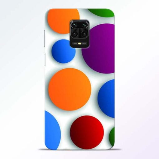 Bubble Pattern Redmi Note 9 Pro Mobile Cover