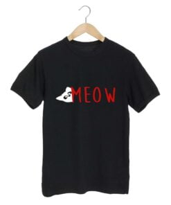 Cat Meow Black T shirt