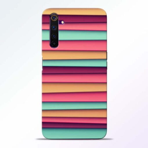 Color Stripes Realme 6 Mobile Cover