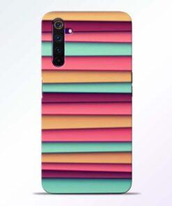 Color Stripes Realme 6 Pro Mobile Cover