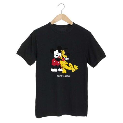 Free Hugg Black T shirt