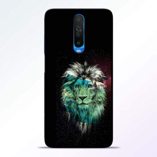 Lion Print Poco X2 Mobile Cover