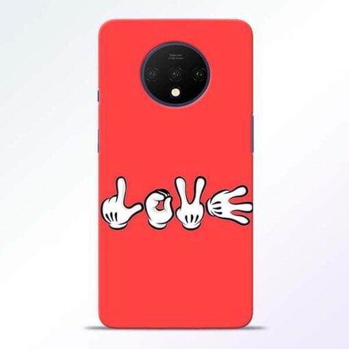 Love Symbol OnePlus 7T Mobile Cover