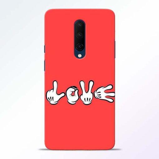 Love Symbol OnePlus 7T Pro Mobile Cover