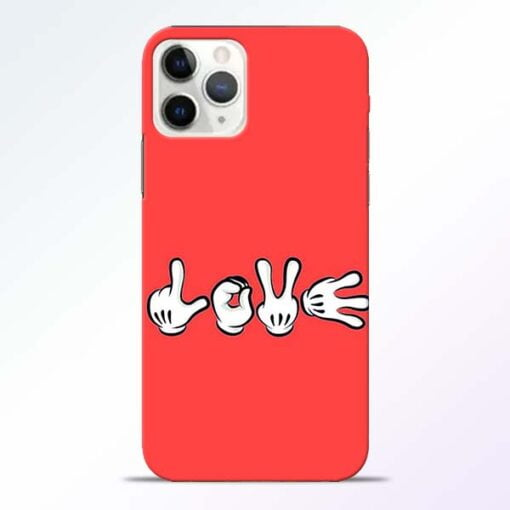 Love Symbol iPhone 11 Pro Max Mobile Cover