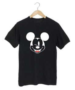 Micky Face Black T shirt