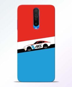 Racing Car Poco X2 Mobile Cover