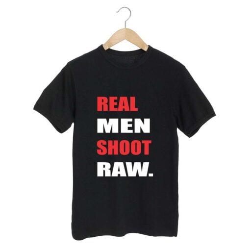 Real Men Black T shirt
