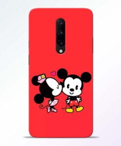 Red Cute Mouse OnePlus 7 Pro Mobile Cover