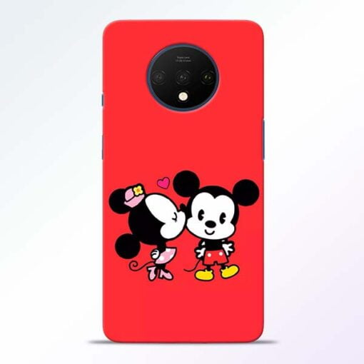 Red Cute Mouse OnePlus 7T Mobile Cover