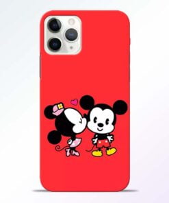 Red Cute Mouse iPhone 11 Pro Max Mobile Cover