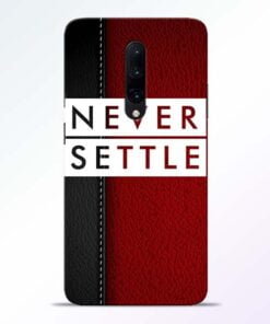 Red Never Settle OnePlus 7 Pro Mobile Cover