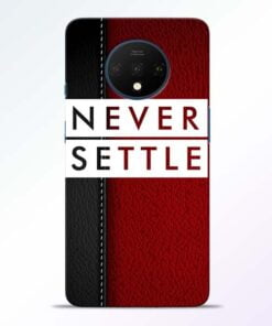 Red Never Settle OnePlus 7T Mobile Cover