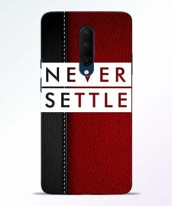 Red Never Settle OnePlus 7T Pro Mobile Cover