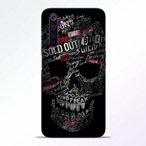 Skull Face Realme 6 Mobile Cover