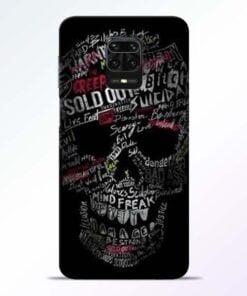 Skull Face Redmi Note 9 Pro Mobile Cover
