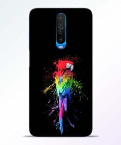 Splatter Parrot Poco X2 Mobile Cover