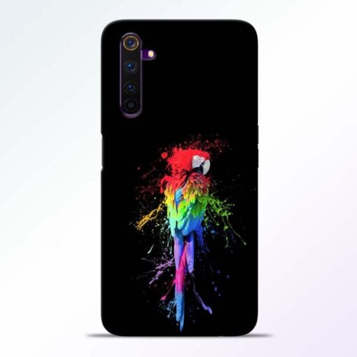 Splatter Parrot Realme 6 Mobile Cover