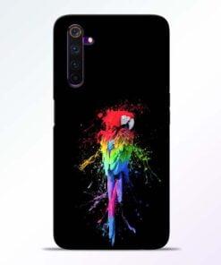 Splatter Parrot Realme 6 Pro Mobile Cover