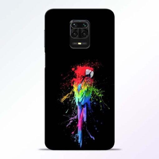 Splatter Parrot Redmi Note 9 Pro Mobile Cover