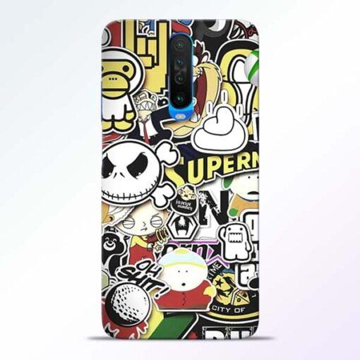 Sticker Bomb Poco X2 Mobile Cover