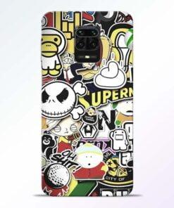 Sticker Bomb Redmi Note 9 Pro Mobile Cover