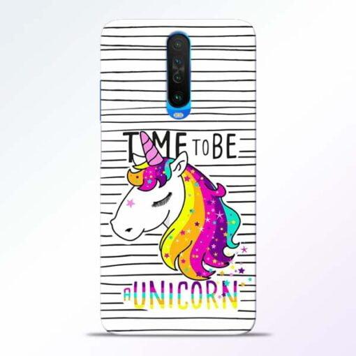Unicorn Horse Poco X2 Mobile Cover