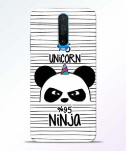 Unicorn Panda Poco X2 Mobile Cover