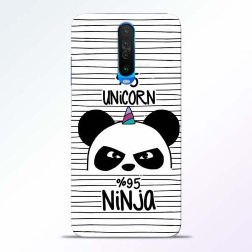 Unicorn Panda Poco X2 Mobile Cover