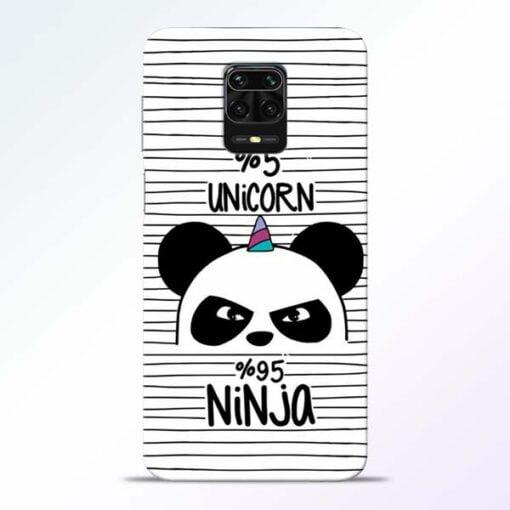 Unicorn Panda Redmi Note 9 Pro Mobile Cover