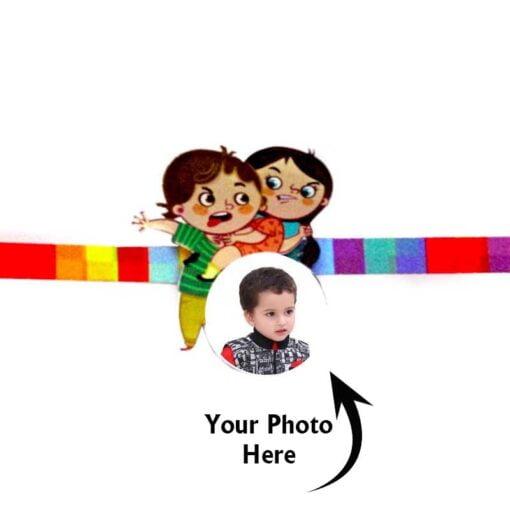 Customized Photo Rakhi Bother Sister