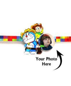 Customized Photo Rakhi Doraemon