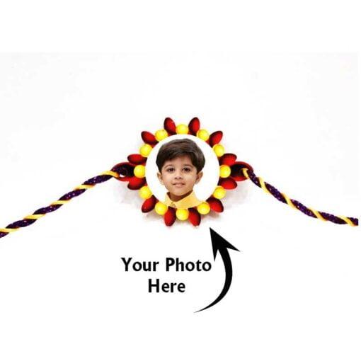 Customized Photo Rakhi Flower