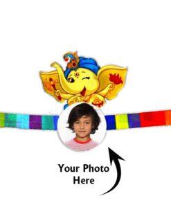 Customized Photo Rakhi Ganesha