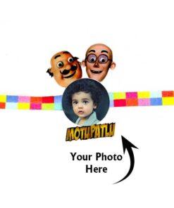 Customized Photo Rakhi Motu Patlu
