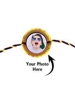 Customized Photo Rakhi Round Shape Rakhi
