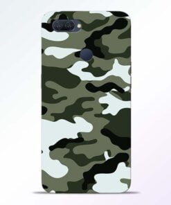 Army Camo Oppo A12 Mobile Cover - CoversGap