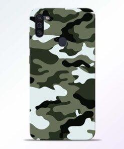 Army Camo Samsung M11 Mobile Cover - CoversGap