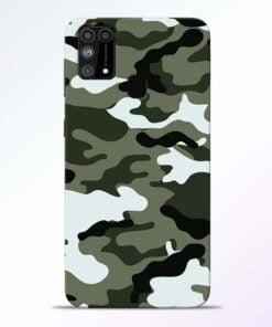Army Camo Samsung M31 Mobile Cover