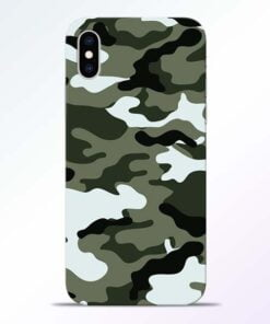 Army Camo iPhone XS Mobile Cover